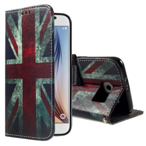 Color Painting Leather Phone Case for Samsung Galaxy S6 G920 - Retro Union Jack