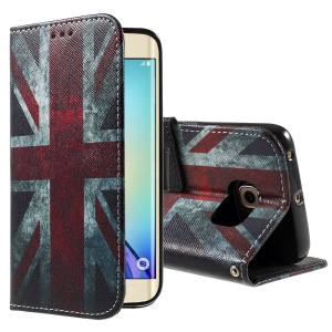 Color Painting Leather Phone Case for Samsung Galaxy S6 edge G925 - Retro Union Jack