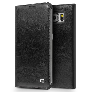 QIALINO Genuine Leather Case for Samsung Galaxy S6 edge G925 - Black