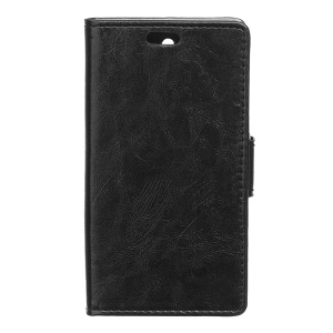 Crazy Horse Wallet Leather Case for Samsung Galaxy Xcover 3 SM-G388F with Support Stand - Black