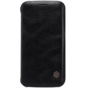 NILLKIN Qin Series Leather Case for Samsung Galaxy S6 edge G925 with Card Slot - Black