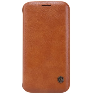 NILLKIN Qin Series Leather Card Holder Case for Samsung Galaxy S6 edge G925 - Brown