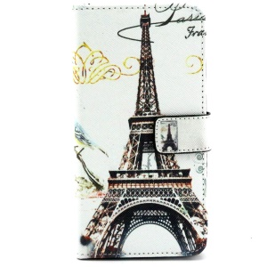 Stand Wallet Leatherette Cover for Samsung Galaxy A3 SM-A300F - Eiffel Tower