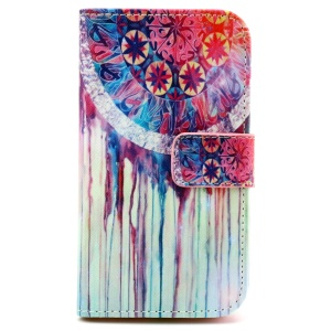 Patterned Wallet PU Leather Case for Samsung Galaxy Core Prime G360 - Dream Catcher