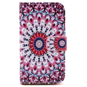 Patterned Wallet Leather Cover for Samsung Galaxy Core Prime G360 - Charming Kaleidoscope