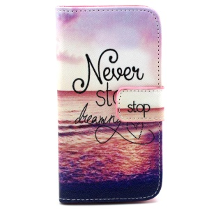 Never Stop Dreaming Flip Leather Stand Case for Samsung Galaxy S5 G900 / S5 Neo