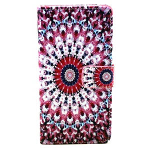 Flip Wallet Leather Case for Samsung Galaxy Grand Prime SM-G530H - Charming Kaleidoscope