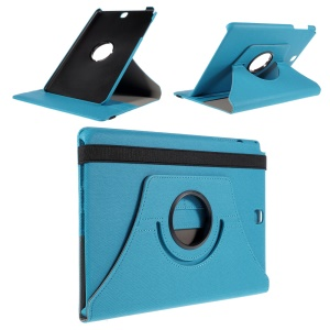 Cloth Grain Leather Rotary Stand Case for Samsung Galaxy Tab A 9.7 T550 T555 - Light Blue