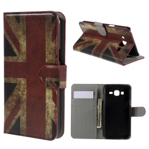 Retro UK Flag Leather Stand Case for Samsung Galaxy J5 SM-J500F with Card Slots