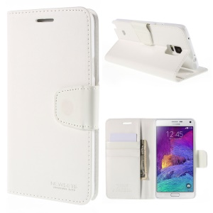 NEWSETS MERCURY Stand Leather Case Cover for Samsung Galaxy Note 4 N910 - White