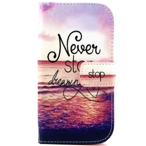Wallet Leather Phone Case for Galaxy Ace Style LTE G357FZ / Ace 4 SM-G357FZ - Sunset And Quote
