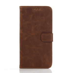 Retro Style Leather Cover with Wallet Slots for Samsung Galaxy J5 SM-J500F - Coffee