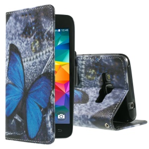 Callfree Leather Phone Cover for Samsung Galaxy Grand Prime SM-G530H - Blue Butterfly