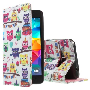 Callfree for Samsung Galaxy Grand Prime SM-G530H Magnetic Leather Case - Multiple Lovely Owls