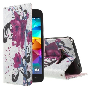 Callfree for Samsung Galaxy Grand Prime SM-G530H Wallet Leather Case - Kapok Flowers