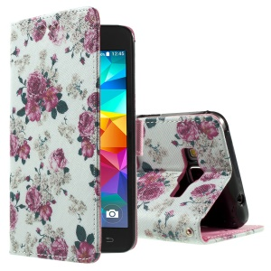 Callfree for Samsung Galaxy Grand Prime SM-G530H PU Leather Case - Elegant Roses