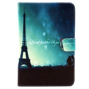 Wallet Leather Stand Cover for Samsung Galaxy Tab A 8.0 T350 - Eiffel Tower