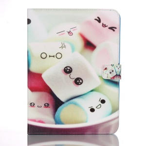 Smart Leather Cover Card Holder for Samsung Galaxy Tab 4 10.1 T535 - Cute Candy