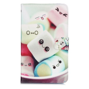 Smart Awakening Leather Case for Samsung Galaxy Tab 4 7.0 T230 T231 T235 - Cute Candy
