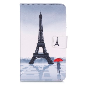 Smart Leather Cover Wallet Stand for Samsung Galaxy Tab 4 7.0 T230 - Famous Eiffel Tower