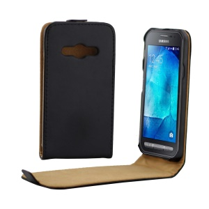 Vertical Up-down Flip Leather Case for Samsung Galaxy Xcover 3 SM-G388F - Black