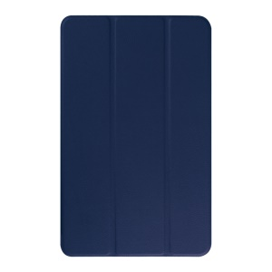 Litchi Skin Tri-fold Stand Leather Case Cover for Samsung Galaxy Tab E 9.6 T560 - Dark Blue