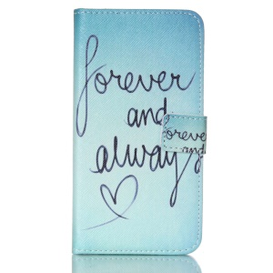 Wallet Leather Cover for Samsung Galaxy S5 G900 / S5 Neo - Forever and Always