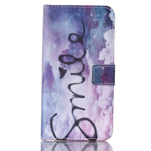 Card Holder Leather Shell for Samsung Galaxy S5 G900 - Sky