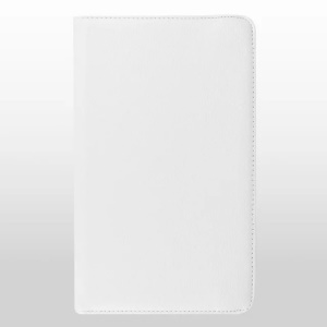 Litchi Texture Rotary Stand Leather Cover for Samsung Galaxy Tab E 9.6 T560 / T561 - White