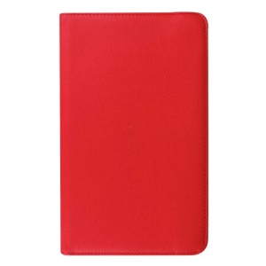 Litchi Grain Rotary Stand Leather Cover for Samsung Galaxy Tab E 9.6 T560 / T561 - Red