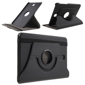 Twill Grain Rotary Stand Leather Case for Samsung Galaxy Tab S2 8.0 T715 T710 - Black