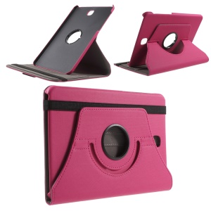 Twill Grain Rotary Stand Leather Shell for Samsung Galaxy Tab S2 8.0 T715 T710 - Rose