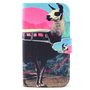 Flip Wallet Leatherette Stand Case for Samsung Galaxy S3 I9300 - Unique Sheep