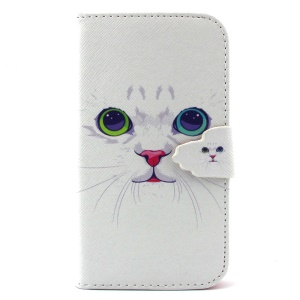Magnetic Wallet PU Leather Case Shell for Samsung Galaxy S3 I9300 - Cat with Red Nose