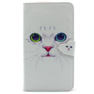 Cat with Red Nose Leather Wallet Case for Samsung Galaxy Note 4 N910