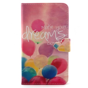 Colorful Balloons Leather Wallet Cover for Samsung Galaxy Note 4 N910