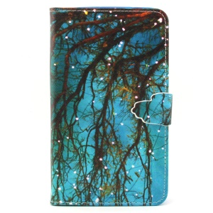 Small Lights on the Tree PU Leather Wallet Case for Samsung Galaxy Note 4 N910