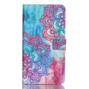 Wallet Leather Shell for Samsung Galaxy Note 5 Edge - Beautiful Mandala