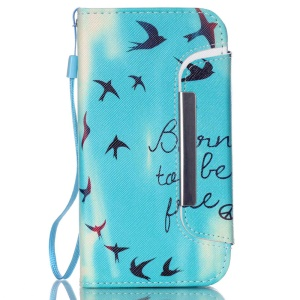 For Samsung Galaxy S5 G900 / S5 Neo G903F Detachable Wallet Leather Cover - Born to Be Free and Birds