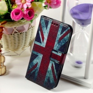 Callfree Leather Phone Cover for Samsung Galaxy Core Prime SM-G360 - Retro UK Flag