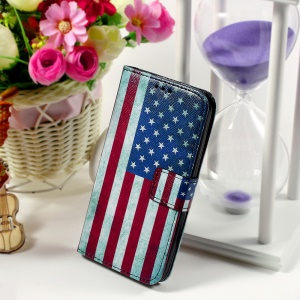 Callfree Leather Phone Cover for Samsung Galaxy Core Prime SM-G360 - Retro US Flag