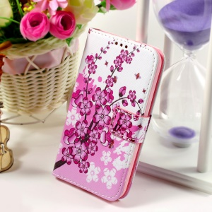 Callfree Leather Phone Cover for Samsung Galaxy Core Prime SM-G360 - Plum Blossom