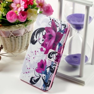 Callfree Stand Wallet Leather Cover Shell for Samsung Galaxy Note 5 - Kapok Flower