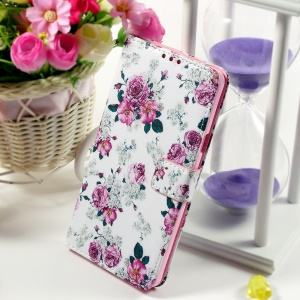 Callfree Wallet Stand Faux Leather Cover for Samsung Galaxy Note 5 - Blooming Flower