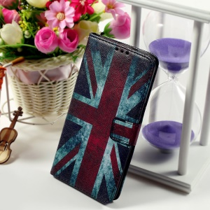 Callfree Leather Phone Cover for Samsung Galaxy S6 edge+ G928 - Retro UK Flag