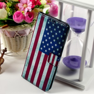 Callfree Leather Phone Cover for Samsung Galaxy S6 edge+ G928 - Retro US Flag