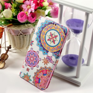 Callfree Leather Phone Cover for Samsung Galaxy S6 edge+ G928 - Geometric Flower