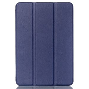 Tri-fold Stand Lychee Leather Smart Case for Samsung Galaxy Tab S2 8.0 T715 T710 - Dark Blue
