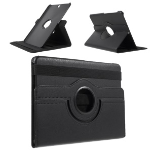 Rotary Stand Leather Flip Cover for Samsung Galaxy Tab S2 9.7 T810 T815 - Black