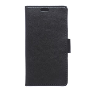 Crazy Horse Texture Leather Wallet Case for Samsung Galaxy Trend 2 Lite G318H / Galaxy V Plus SM-G318 - Black